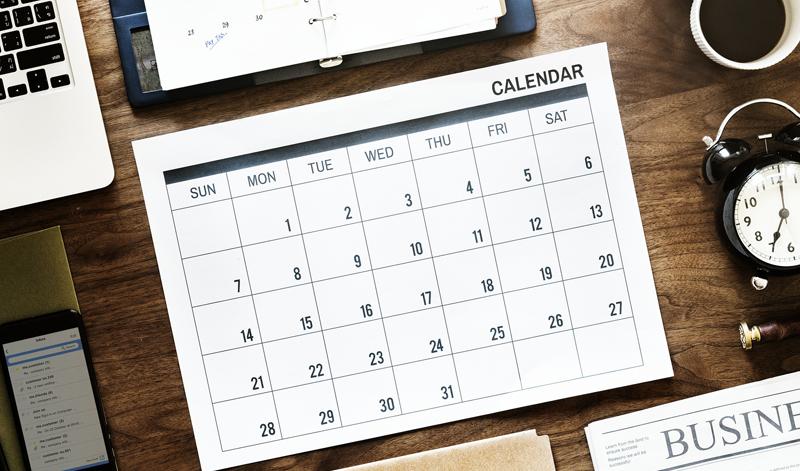 Calendario fieristico 2018 2019